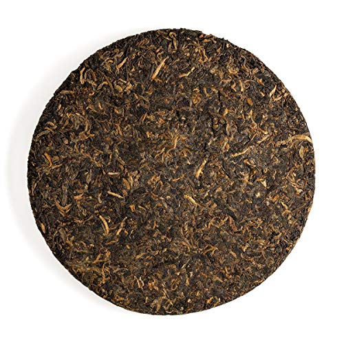 Shou Pu-erh Tea Cake Pressed - Fermented Pu Er Red Tea - Ripend Puh Er - Puer Loose Leaf Tea 357g