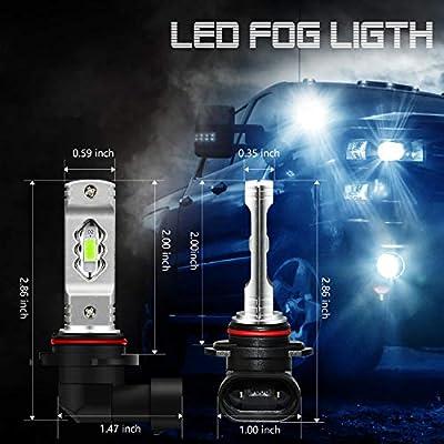 JDM ASTAR Super Bright High Power 9006 LED Fog Light Bulbs, Ice Blue: Automotive