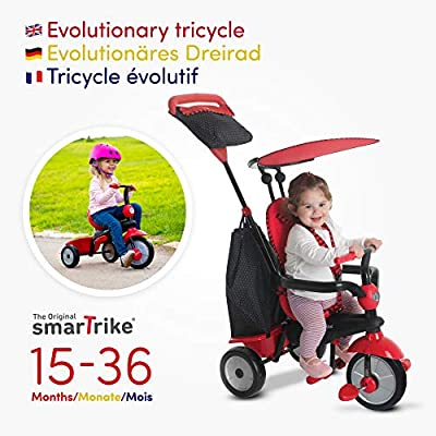 smarTrike Glow 4 in 1 Baby Tricycle, Red: Baby