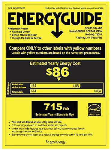 Kenmore 73059 cu. ft. Door Bottom Freezer Refrigerator includes delivery and