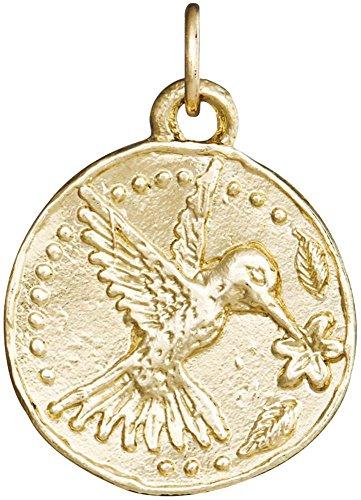 Helen Ficalora Hummingbird Coin Charm Yellow Gold ()