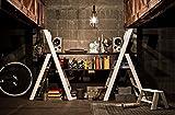 Hasegawa Ladders Lucano Stepladder, 3 Step, White