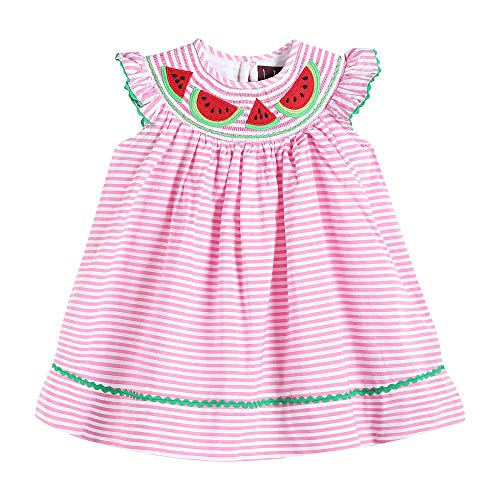 - Lil Cactus 32121014092 Bishop Dress with Watermelons Pink