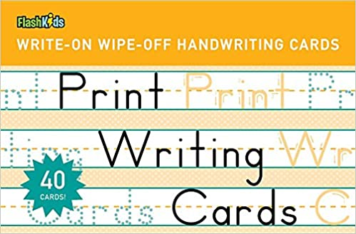 Print Writing Cards (Write-On Wipe-Off Handwriting Cards.): Flash ...