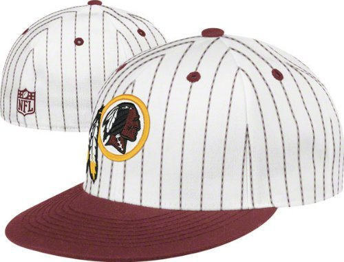 (Reebok Washington Redskins Pinstripe Structured Fitted Hat)
