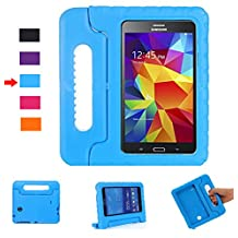 Lumcrissy Samsung Galaxy Tab 4 8.0 Shockproof Case Light Weight Kids Case Super Protection Cover Handle Stand Case for Kids Children For Samsung Galaxy Tab 4 8-inch SM-T330 SM-T331 SM-T335 (Blue)