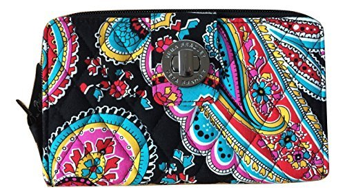 Vera Bradley Women's Turnlock Wallet Parisian Paisley One Size