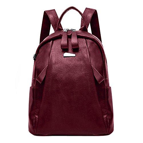 Desigual Women Bags Backpack LuluZanmFashion Women Girl Leather Backpack Travel Rucksack