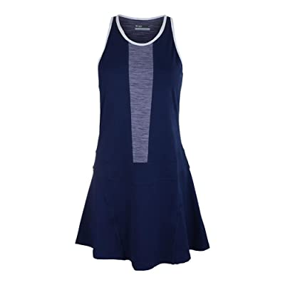 Lija Women`s Spin Tennis Dress Ocean and Violet-(17A-3190T2F17)