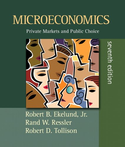 Microeconomics: Private Markets and Public Choice plus MyEconLab plus eBook 1-semester Student Access Kit (7th Edition)