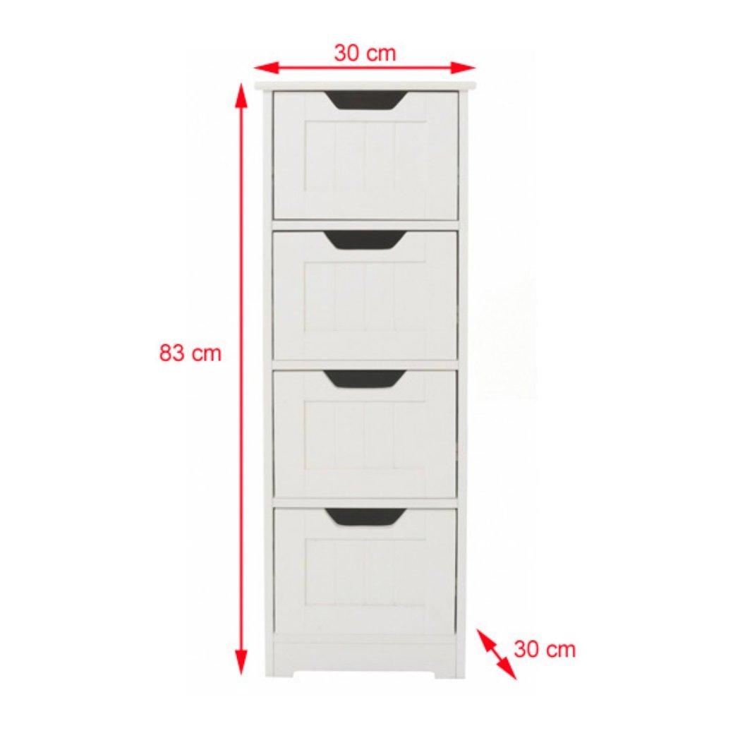 bathroom cabinet storage slim design drawer unit white wooden and freestanding suit bedroom living and hallway sennen range by elegant brands - Bathroom Cabinets 30cm Wide