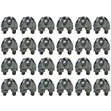 CPML014 Galvanized Steel 1/4-inch Cable Clamp Clip, 24-Pack
