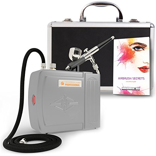 Makeup Professional Airbrush (The Complete Airbrush Makeup, Cosmetic and Tattoo Professional Spray Gun Mini Compressor Kit for Multi Purpose Air Brushing: Make up, Body Paint, Temporary Tattoos, Nail Art Paints Machine and more)