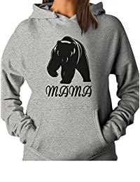 TeeStars - Mama Bear - Great for Mom Women Hoodie Large Gray