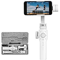 Zhiyun Smooth 4 3-Axis Handheld Gimbal Stabilizer For Smartphone,Instant Scene Transition,Focus Pull/Zoom Capability,Object Tracking,Phonego Mode,Timelapse Expert,12H Runtime/Two Way Charging-White