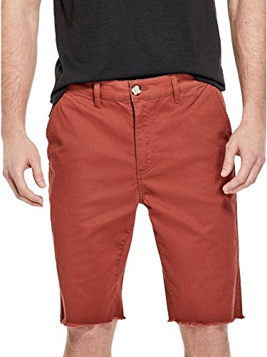 GUESS Factory Men's Tyler Frayed Twill Slim (Tyler Chino Short)