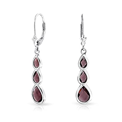 Bling Jewelry Simulated Amethyst Teardrop Sterling Silver Dangle Leverback Earrings 5ihz0BTQQf