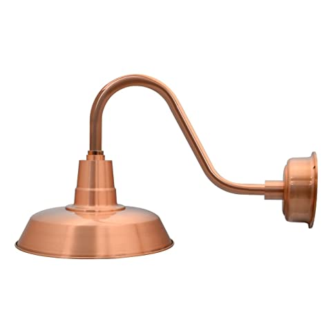 Cocoweb 12 oldage led barn light with rustic arm in solid copper