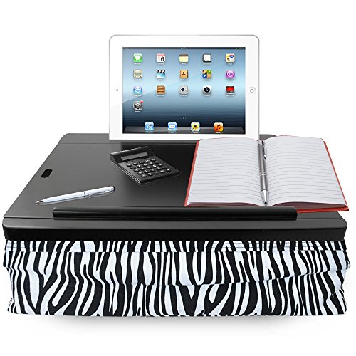 iCozy Portable Cushion Lap Desk With Storage - Zebra