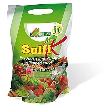 Solfi K - Sulfato de potasio con sal de magnesio, 2 kg: Amazon.es: Jardín