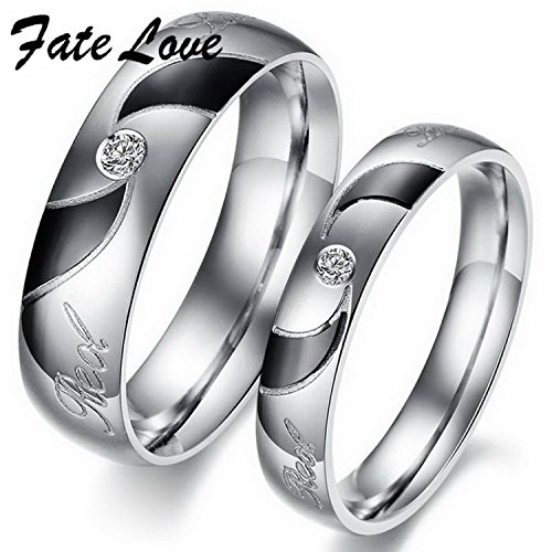 Cherryn Jewelry Finger Ring jewelry black rhinestone titanium steel Couple Ring gj292 hipster style (Hipster Hello Kitty Costume)