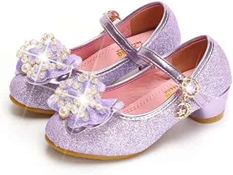 bfb8920af Bon Soir Flower Girl s Dress Shoes Sequins Princess Ballet Ballerina Flats  for Wedding Party