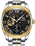 PASOY Carnival Men's Automatic Watch Tourbillon Sapphire Glass Stainless Stell Black Dial Gold Watches