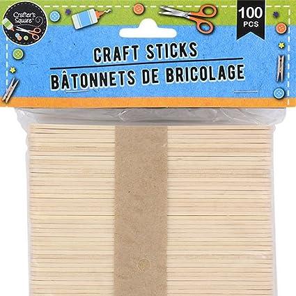 GUAngqi 50 PCS Wooden Popsicle Sticks Natural Wood Craft Sticks Ice Cream Sticks Jumbo Natural Finish Craft Sticks DIY Art Crafts Tool 4.49 Small Craft Sticks