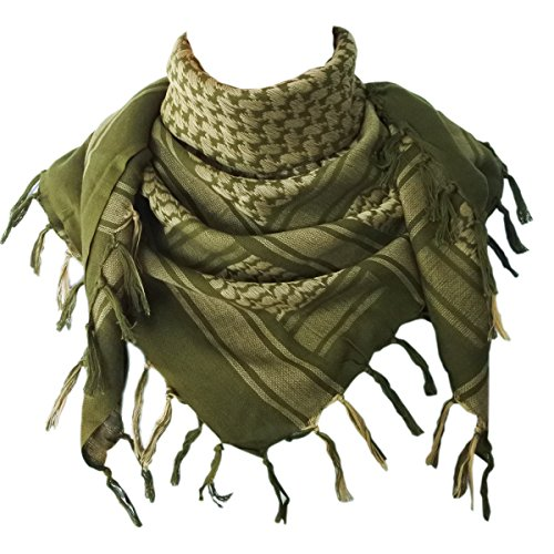 - Explore Land Cotton Shemagh Tactical Desert Scarf Wrap (Foliage)