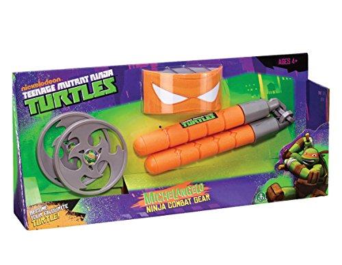 Nunchucks Ninja Turtle (TMNT TEENAGE MUTANT NINJA TURTLES MICHELANGELO NINJA COMBAT GEAR NEW - NUNCHUCK)
