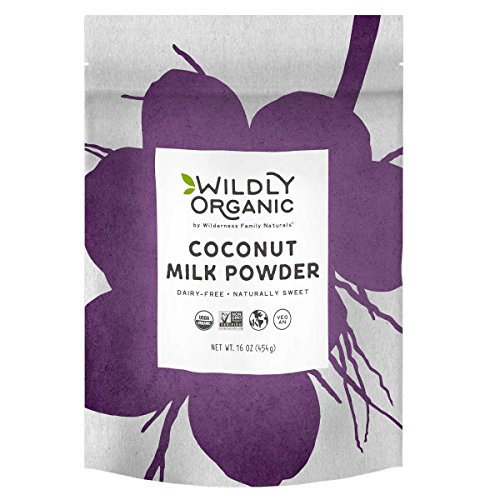 100% Certified Organic Coconut Milk Powder, Vegan, Dairy-Free, 1 Pound Wildly Organic
