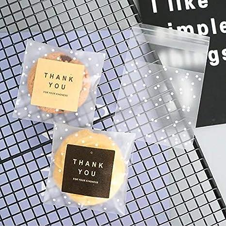 Amazon.com: White Dots - Bolsas autoadhesivas de plástico ...