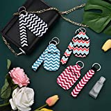 15 Pieces Travel Bottle Keychain Holders Wristlet