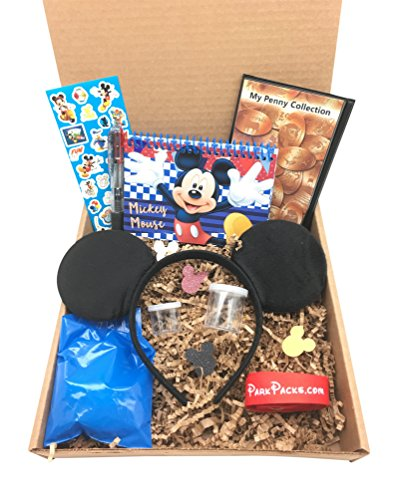 (Mickey Disney Vacation Set Mouse Ears Headband Official Autograph Book & Pen)