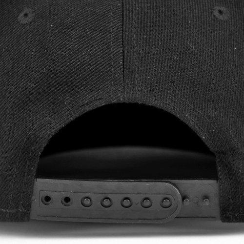 talla para única LOCOMO hombre Gorra béisbol de Negro negro Hats IqwOSBwx8