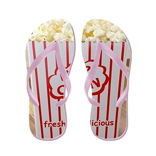 Cafepress Fresco Delizioso Popcorn - Infradito, Sandali Infradito Divertenti, Sandali Da Spiaggia Rosa
