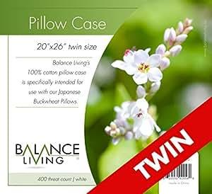 Culina Balance Living - Funda de almohada, color blanco