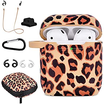 Amazon.com: Norbairp White Leopard Compatible for Airpods