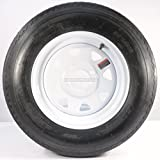 eCustomRim Trailer Tire On Rim 5.30-12 530-12 5.30 X 12 12 in. 4 Lug Hole White Wheel Spoke