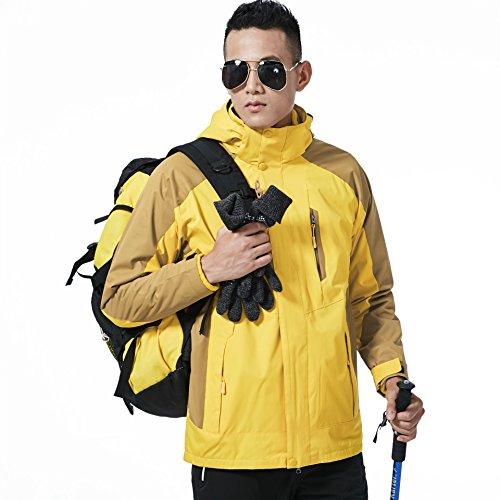 Piumino Giacche Dyf Fym Donne giallo Sciare Ispessita Uomini Scalata Cappotto Esterna M Impermeabile HXZaH1