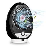 Best Speaker Musics For PC Laptops - Portable Bluetooth Speaker Fan(3-Speed) Mini Table Desk Fan Review
