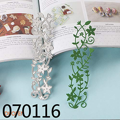 Best Quality - Cutting Dies - Metal Cutting Dies 070116 Vine Leaves Border Stencils Dies for DIY Craft Projects Scrapbooking Embossing Paper Album - by SeedWorld - 1 PCs]()