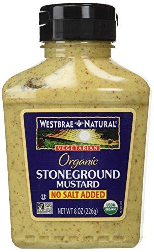 - Westbrae Natural Stoneground Mustard, No Salt Added, 8 oz
