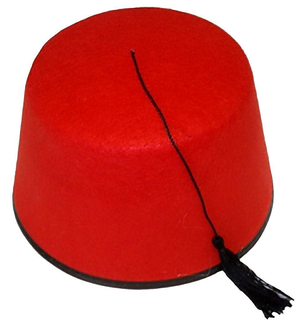 Islander Fashion Unisex Red Fez Hat Tarbosh Turkish Tommy Cooper Fancy Hat With Black Boarder Hat Islander Fashions