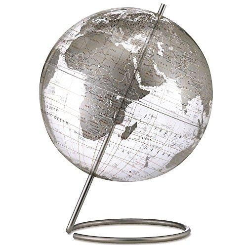 Replogle Globes Crystal Marquise Globe, Silver, 12-Inch Diameter (Crystal Globe Desktop)