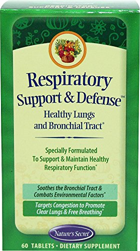 Price comparison product image Natures Secret Respiratory Support and Defense - Healthy Lungs and Bronchial Tract 60 Tablets