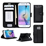 Samsung Galaxy S6 Edge Wallet Case Cover, FYY® [Executive Wallet Kickstand] Premium Leather Flip Case Stand Cover with Card Slots and Note Holder for Samsung Galaxy S6 Edge Black