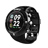 Fitness Smart Watch,MeiLiio Waterproof Heart Rate Bluetooth Wristband with Blood Pressure,Blood Oxygen,Sleep Monitor,Pedometer, Calorie Counter Smart Bracelet fit for Android&iOS-Black