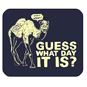Guess What Day it is Camel Hump Day Graffiti Design Personalized Rectangle Mouse Pad