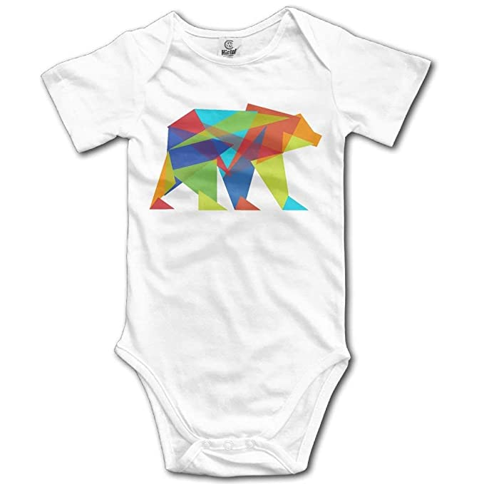 6411f041be49 Amazon.com  fhcbfgd Baby Clothing Shop Fractal Geometric Bear Baby ...